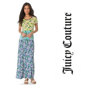 Juicy Couture Hibiscus Floral Maxi Dress